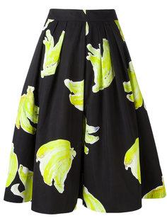 плиссированная юбка с принтом MSGM