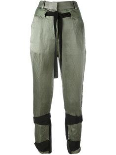 укороченные брюки с высокой талией Ann Demeulemeester