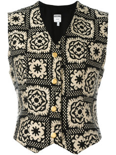 patterned waistcoat Moschino Vintage