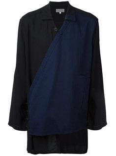 рубашка с асимметричной панелью Yohji Yamamoto