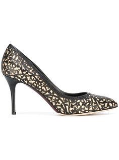 кружевные туфли с цветочным узором Oscar de la Renta