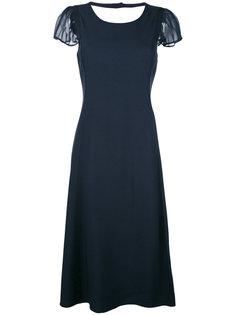 расклешенное платье миди Emporio Armani