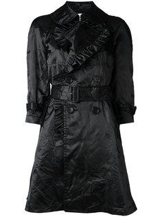 пальто с поясом и оборками Comme Des Garçons