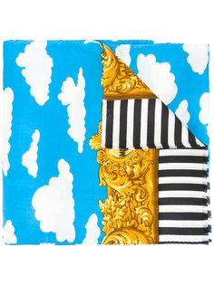 baroque cloud striped scarf Moschino Vintage