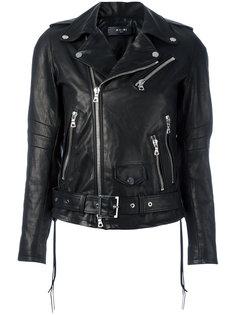 cropped biker jacket Amiri