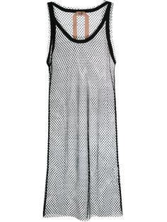 платье с сетчатой отделкой Nº21
