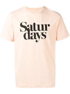 футболка с принтом-логотипом Saturdays Surf Nyc