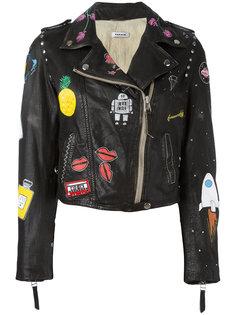 байкерская куртка с принтом P.A.R.O.S.H.