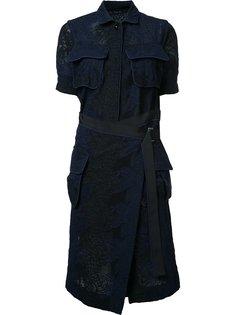 кружевное платье с карманами Sacai