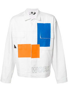 джинсовая куртка с контрастными панелями Andrea Crews