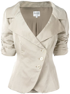 ruched short sleeve jacket Giorgio Armani Vintage