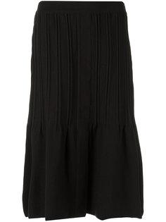 pleated A line skirt Egrey