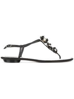 декорированные сандалии René Caovilla