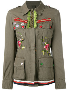 декорированная куртка в стиле милитари  History Repeats