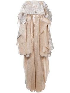 декорированная юбка с баской  Mikael D.