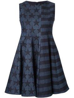 платье с узором в виде звезд и в полоску DressCamp