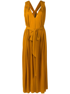 mustard grecian dress Barbara Bui
