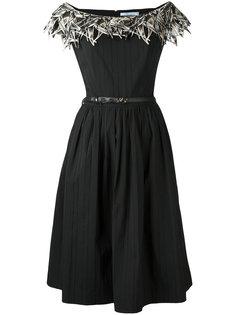 декорированное платье  Blumarine