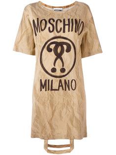 платье-футболка с ручкой от сумки Moschino