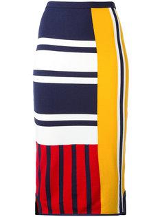 юбка миди с лоскутным узором Tommy Hilfiger