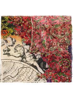 шарф с принтом карты Faliero Sarti