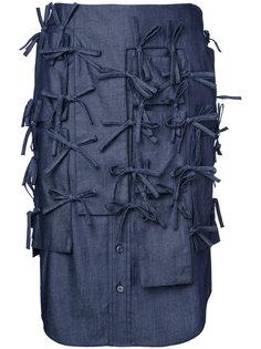 джинсовая юбка с завязками Facetasm