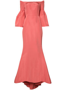 faille evening gown  Carolina Herrera