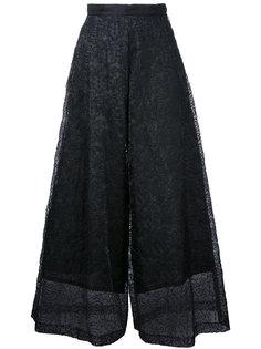 lace detail cropped pants  Taro Horiuchi