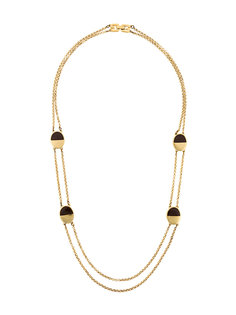 oval detail chain necklace Givenchy Vintage