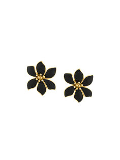 flower clip-on earrings Givenchy Vintage