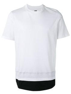 футболка с контрастным подолом Oamc