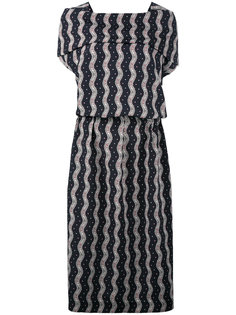 wavy print midi dress Loewe