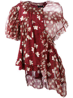 асимметричная блузка с драпировкой Simone Rocha