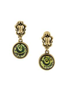 flower drop clip-on earrings Kenzo Vintage