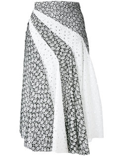 плиссированная юбка с вышивкой Capucci
