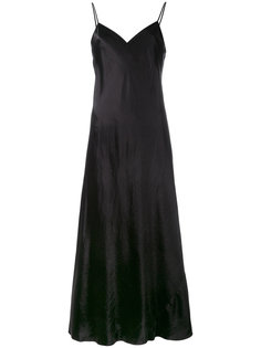 платье шифт с эффектом металлик Vince