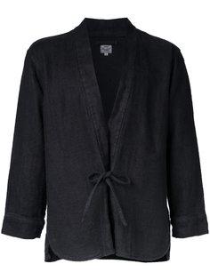 Herringbone kimono shirt Gold