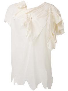 футболка с драпировками Aganovich