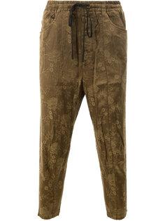 спортивные брюки с вышитым цветочным узором Song For The Mute