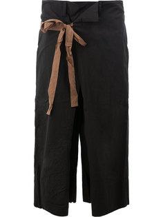 укороченные брюки с завязками Ziggy Chen