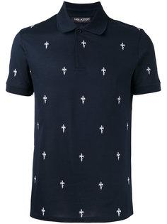 рубашка-поло с узором Neil Barrett