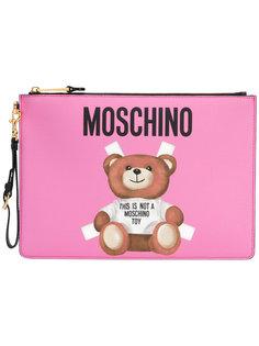клатч с принтом Teddy Bear Moschino