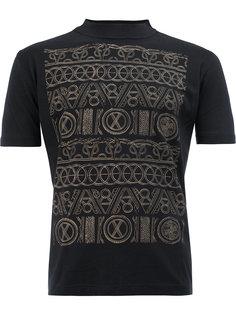 футболка с узором и воротником-воронкой Christopher Nemeth