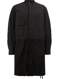 пальто с потайной планкой Ziggy Chen