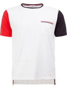 футболка с контрастными рукавами Thom Browne