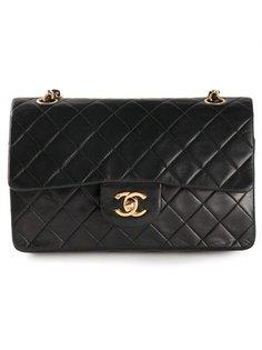 маленькая сумка на плечо с двойным откидным клапаном Chanel Vintage