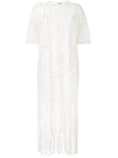 lace fringe trim dress  Roseanna