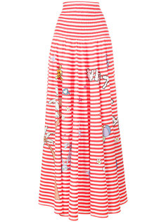 printed stripe skirt  Mira Mikati
