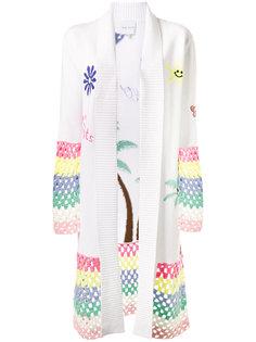 crochet trimmed cardigan Mira Mikati