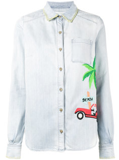 embroidered denim shirt Mira Mikati